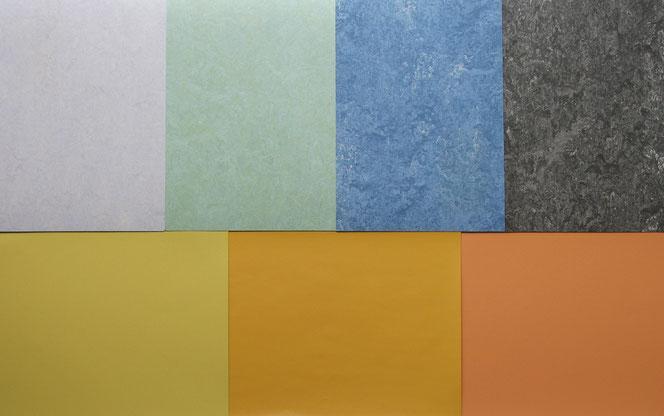 Moderate Palette, Böden. (Linoleum und Holz)