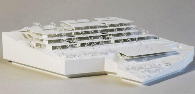 Expositur Tullnerbach, Architektur: fasch&fuchs_architekten, Modell: Partick Klammer