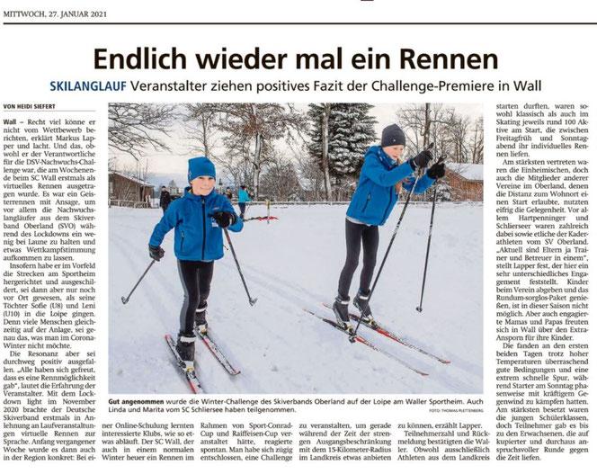 Miesbacher Merkur vom 27.01.2021