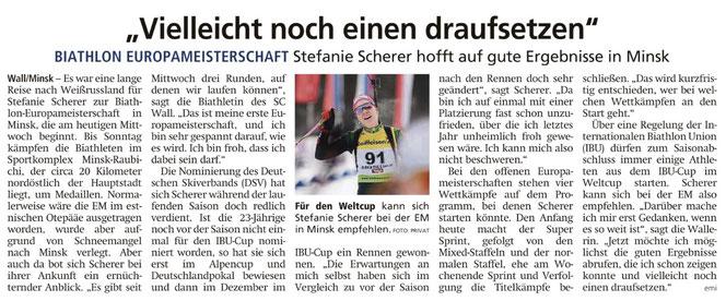 Vorbericht - Miesbacher Merkur vom 26.2.2020