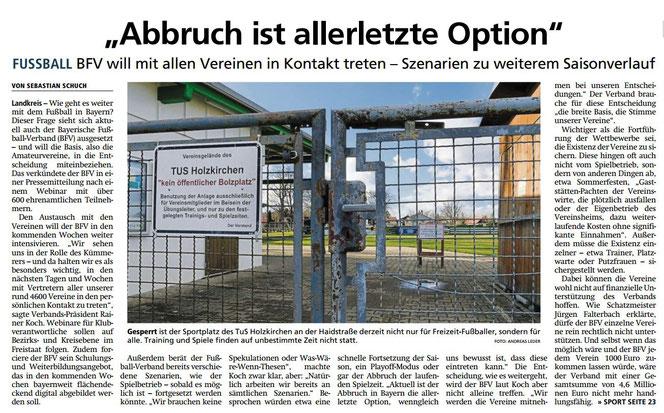 Miesbacher Merkur vom 24.3.2020