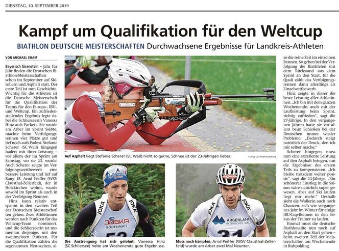 Miesbacher Merkur vom 10.9.2019