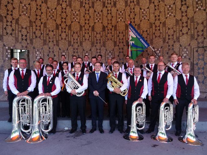 Gruppenfoto beim Pavillonkonzert in Luzern