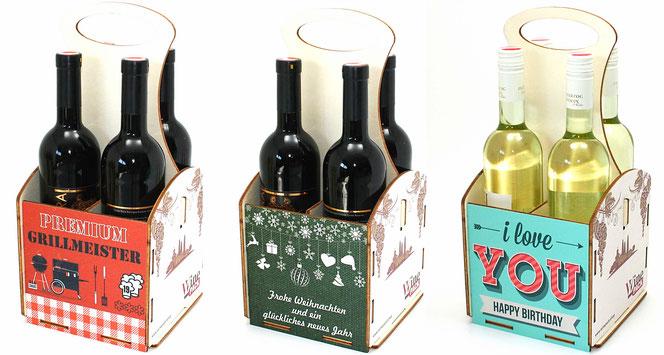 Geschenke Fur Weinliebhaber Sechsertrager Und Weintrager Aus Holz