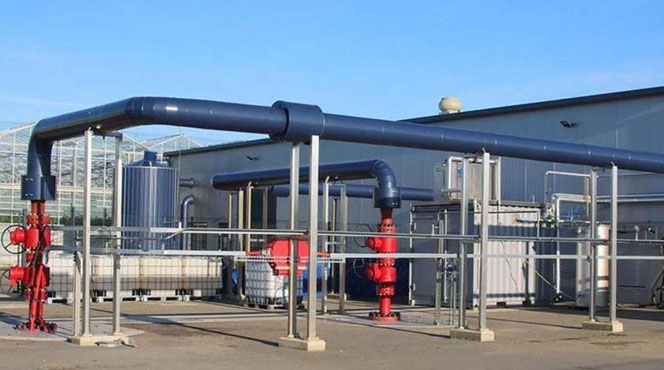 geothermie installatie GtS, bovengrondse installatie