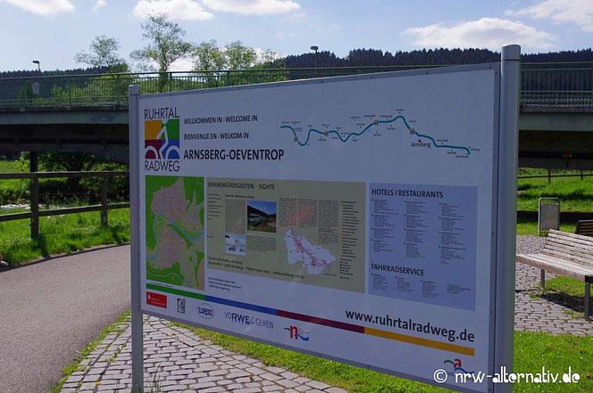 Ruhrtalradweg Schild Arnsberg Erlebnisbericht radfahren