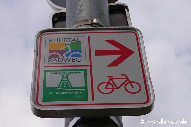 Ruhrtal Radweg Schild Erfahrungsbericht