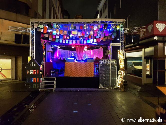 """DJ-Set statt """"Oh Du fröhliche"""" und Co bei Anis und Zauber - dem veganen Wintermarkt in Duisburg."""