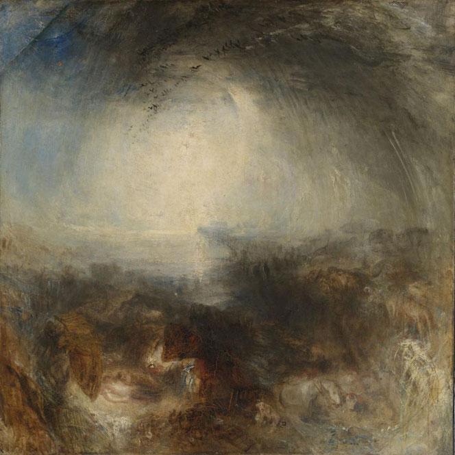 """Noch ein Bild von Turner, dass in der Ausstellung """"Horror and Delight"""" gezeigt wird."""