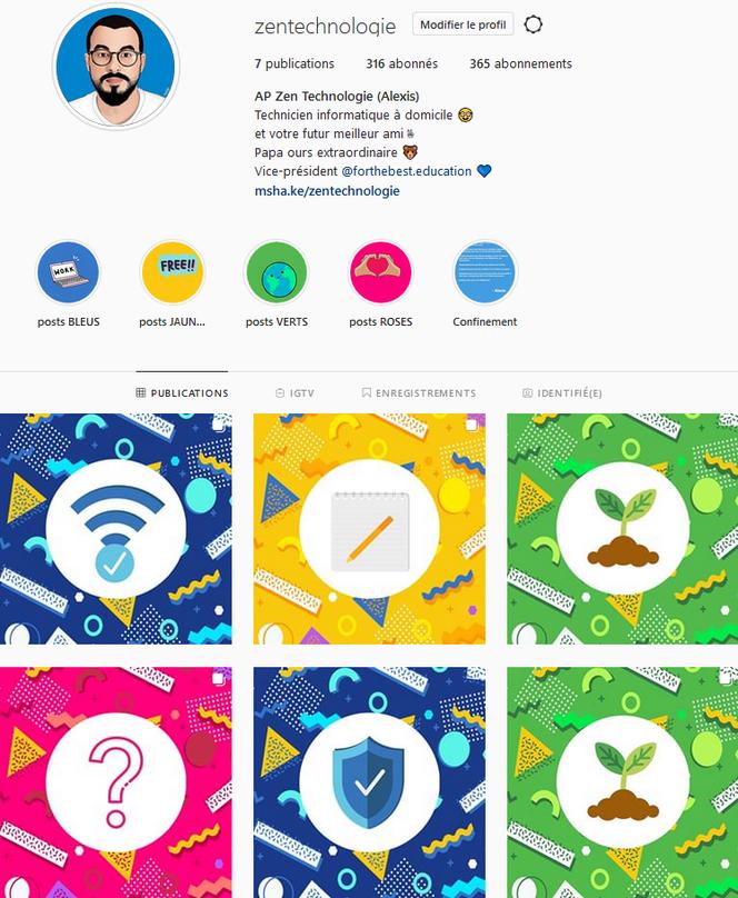 Capture d'Ecran Instagram @zentechnologie