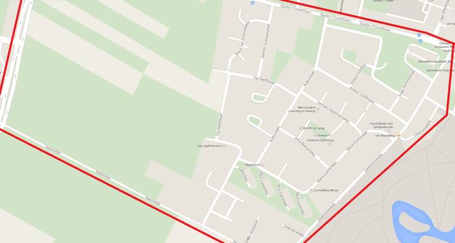 Buurtpreventie wijk Schrijversbuurt. Klik op de afbeelding om de kaart te vergroten.