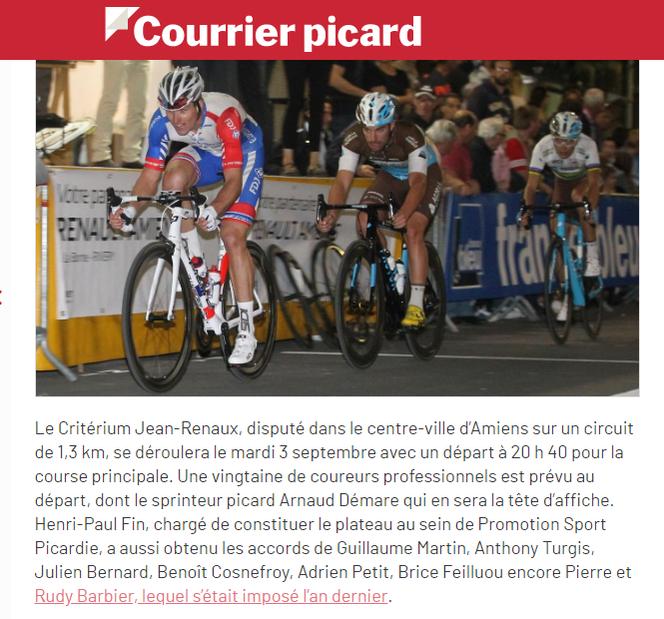 Le Courrier Picard 15/08/2019