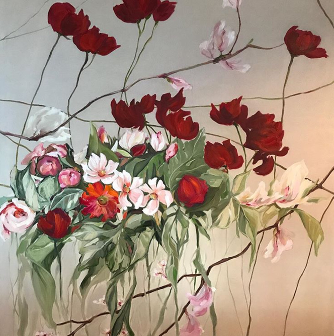 Flowers. oil on canvas, 80x100 cm