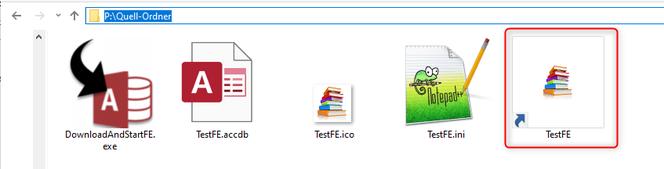 Screenshot  aller Elemente der Beispiellösung