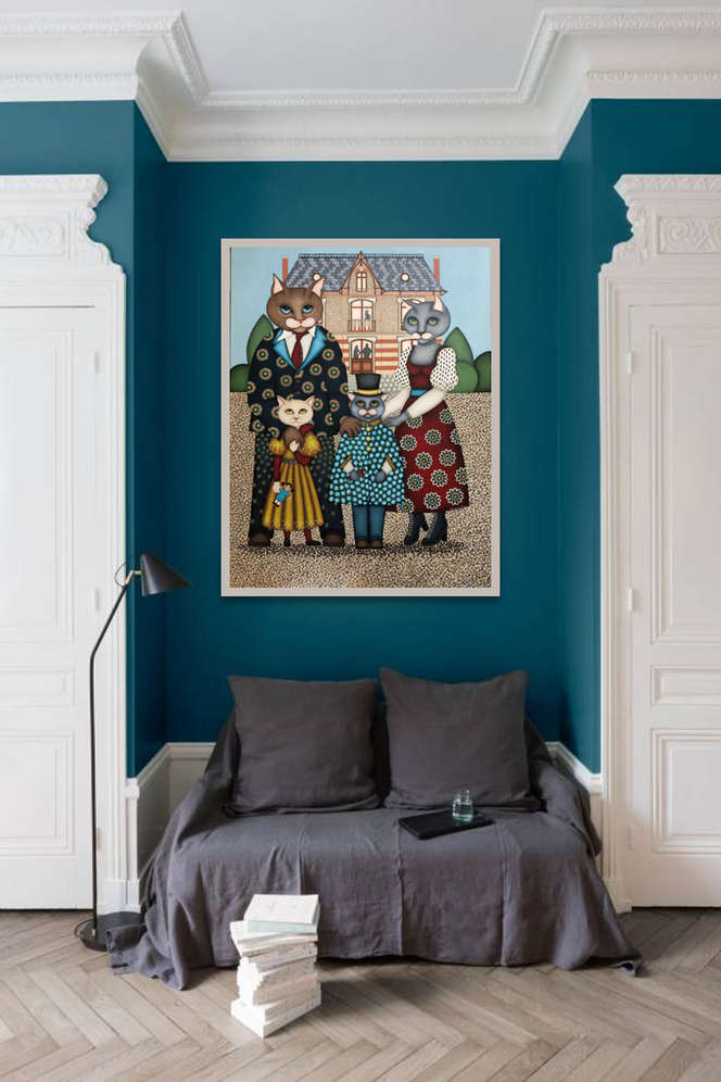 Salon bleu - Tableau - Artiste peintre nantes