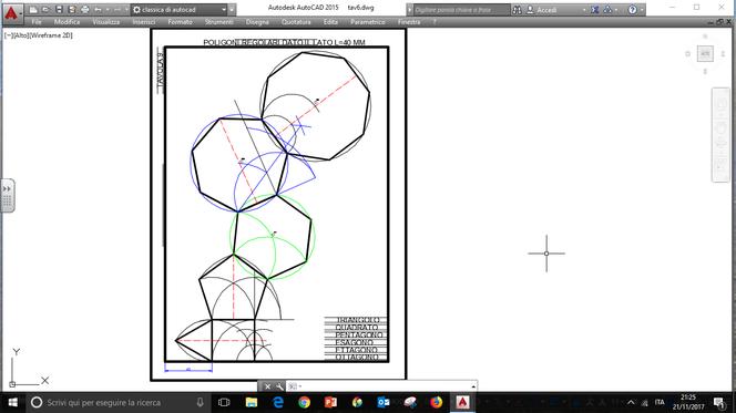 Tavola 6 poligoni regolari dato il lato a3 benvenuti for Costruzione ottagono dato il lato