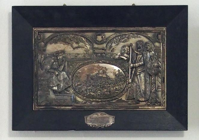 Bild: Metallrelief von 1934