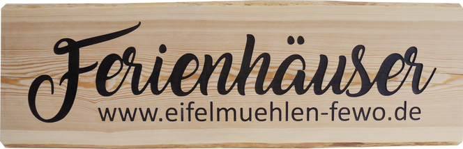 Ferienhaus Holzschild Lärchenholz
