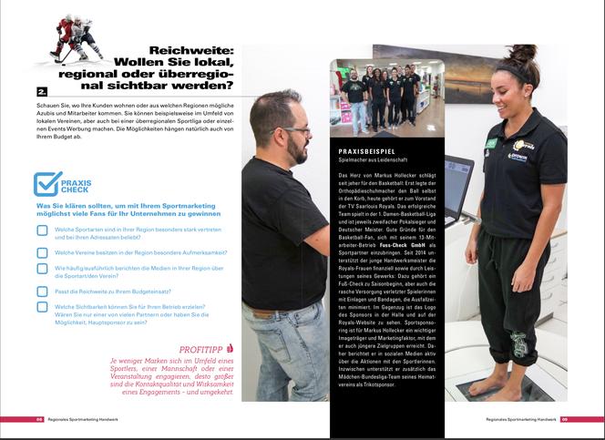 """Regionales Sportmarketing """"Das Handwerk"""" 2018/2019"""