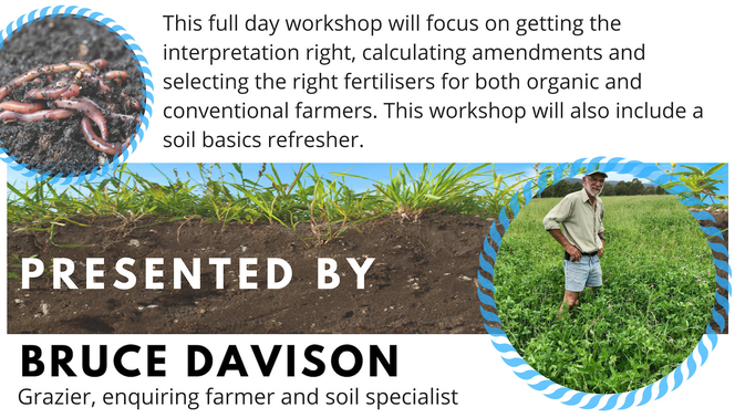 This full day workshop will focus on getting the interpretation right, calculating amendments and selecting the right fertilisers for both organic and conventional farmers. This workshop will also include a soil basics refresher.