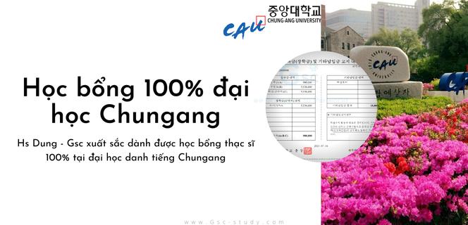 Học sinh GSC giành được học bổng 100% của đại học Chungang kì thu 2021