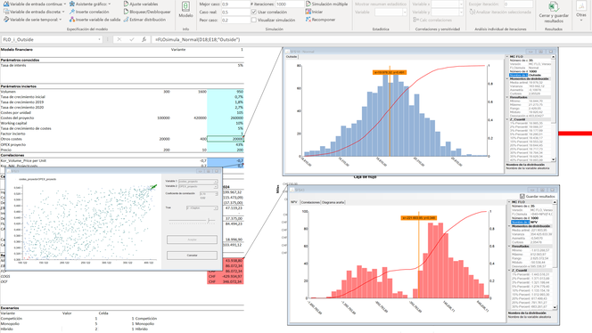 MC FLO Monte Carlo simulación Excel captura comentario