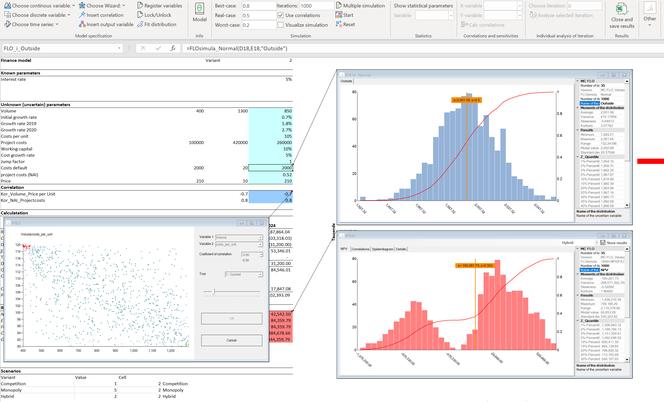 MC FLO Monte Carlo Simulation Excel comments