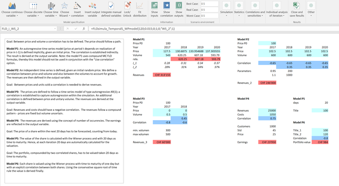 corporate planinng with simulations and correlations; value-at-risk