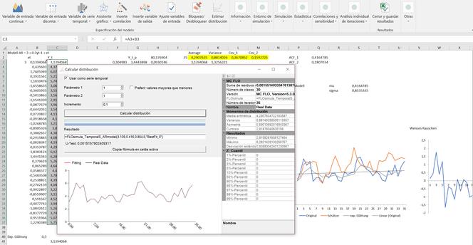 series temporales y estimación de proceso adecuado