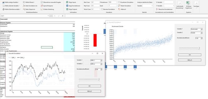Korrelationen Monte Carlo Simulation Excel MC FLO