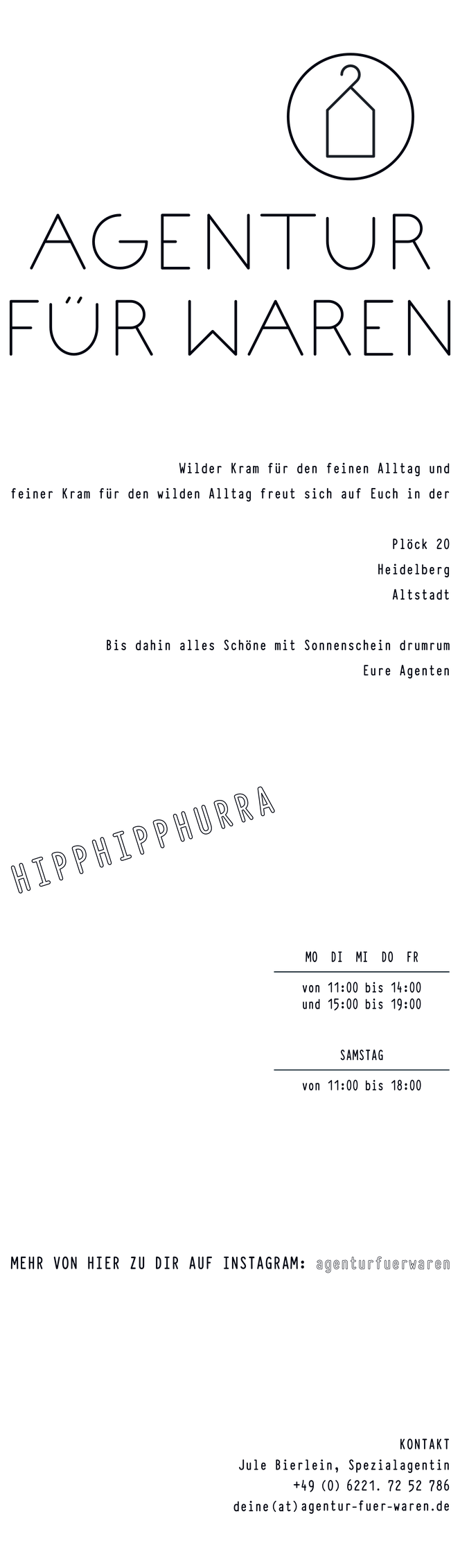 AGENTUR FÜR WAREN / Heidelberg Altstadt / Plöck 20 / Jule Bierlein / Wilder Kram für den feinen Alltag / Feiner Kram für den wilden Alltag