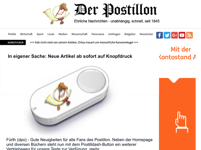 Postillon Dash Button