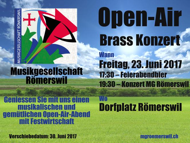 Flyer Open-Air Brass Konzert