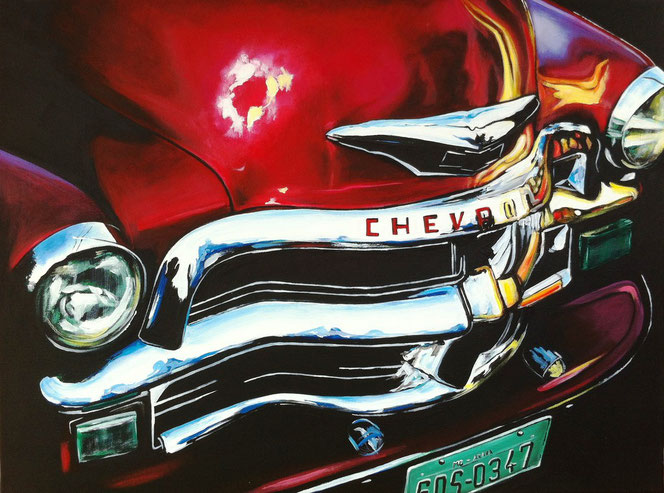 """Love-Red-Chevi"", 2012,  acrylic on canvas, 60x80"