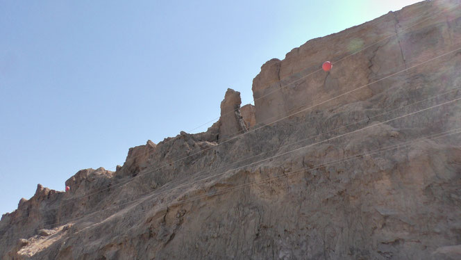 The pillar in the center of Sodom Mount is believed to be Lot's wife