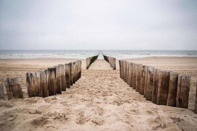 Strand mer paalhoofden, Domburg| Compositie