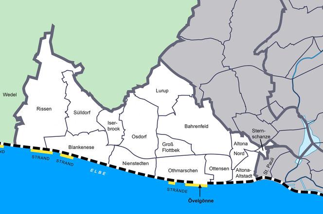 Der Bezirk Altona und seine Stadtteile