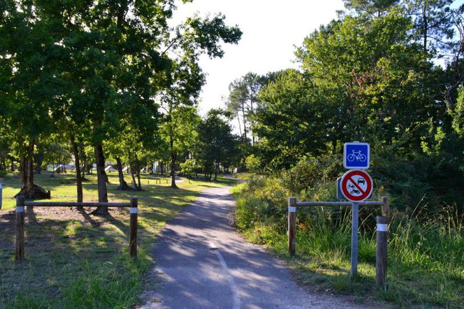 camping proche pistes cyclables landes