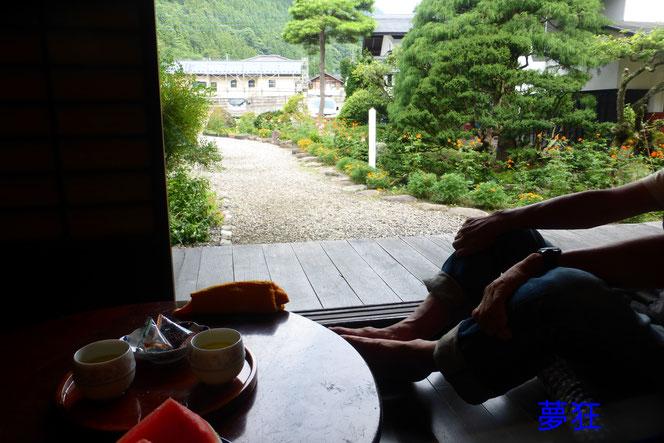 南郷の曲屋。 お心遣いでお茶、スイカ等用意してくださりとても有難かったです。