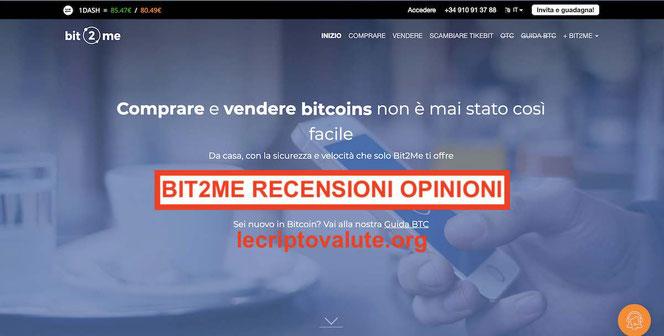 Bit2Me recensioni opinioni comprare vendere criptovalute