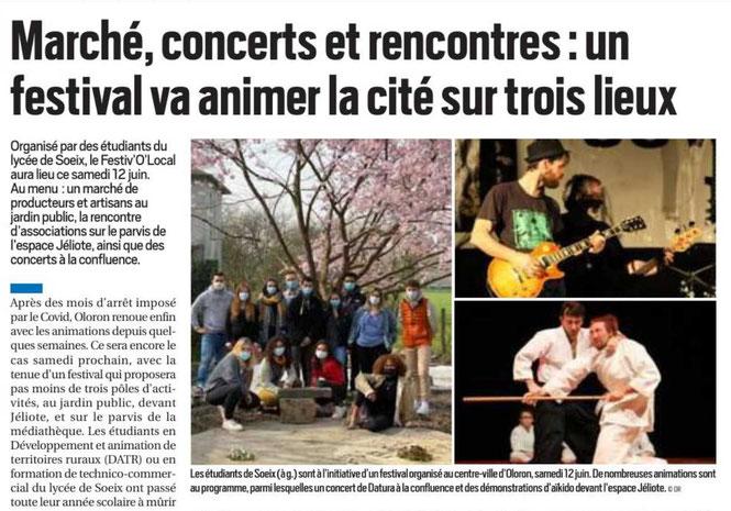 Festiv O Local le 12 juin 2021 sur la République des Pyrénées- image 1 sur2 sur le site ACCOB