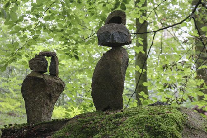D'autres ont placé des totems pour surveiller la forêt du Bager d'Oloron - Une autre façon de protéger ce lieu. ACCOB Oloron Ste Marie