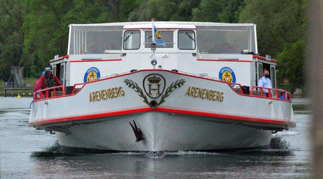 """und wenn Sie wieder einmal mit dem Kursschiff """"Arenenberg"""" unterwegs sind, suchen Sie diese drei Schlösser am Seerücken!"""