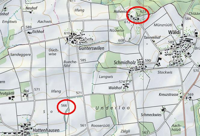 die Grillstelle im Soi ist rund 2 km vom Turm entfernt