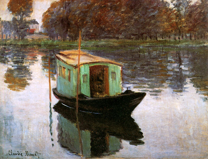 《アトリエ舟》1874年