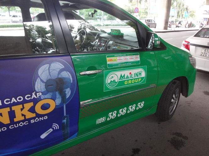 Mailinh タクシーをゲット。Source: onegai kaeru
