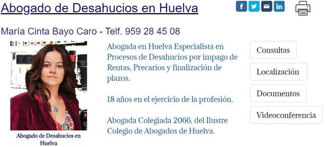 Abogado de Desahucios por Impago de Rentas en Huelva Capital.