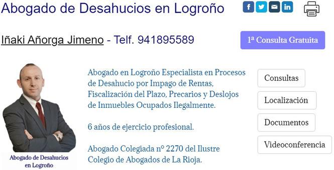 Abogado de Desahucios por Impago de Rentas en Logroño.