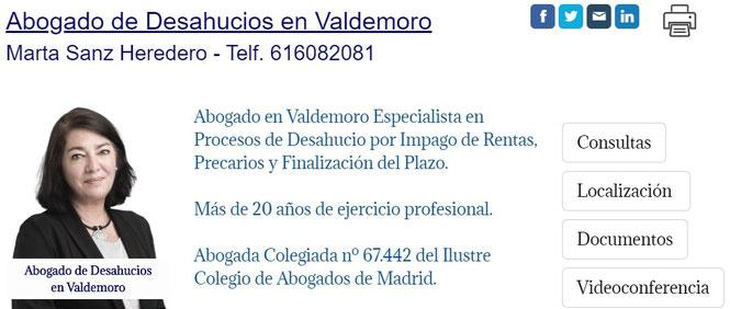 Abogado de Desahucios por Impago de Rentas en Valdemoro.