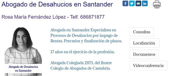 Abogado de Desahucios por Impago de Rentas en Santander.